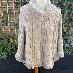 St John Cable-knit Button down Sweater